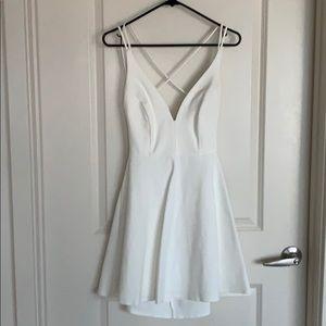 White mini dress for The Bachelorette💍